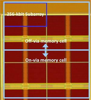 Tohoku on-via STT-MRAM cell