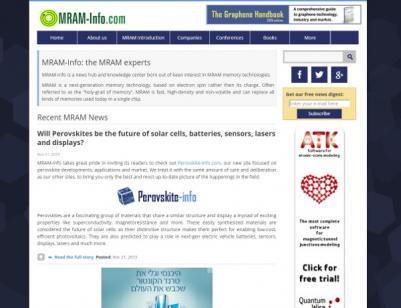 MRAM-Info homepage responsive design 2015